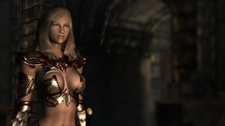Dark Crimson Dynasty Armor Skimpy version10