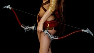 new female 2-hand sword Idle and bow animations6
